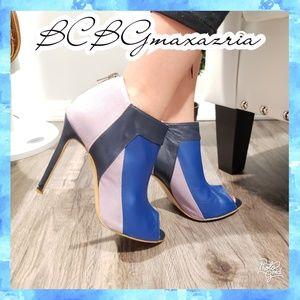 8 BCBGmaxazria heels booties ankle peep toe